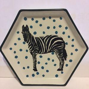 Zebra ceramic tray
